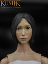 "KUMIK 1/6 Female Head Sculpt Model For 12"" HT JIAOUDOL TTL Figure Body KM16-25"
