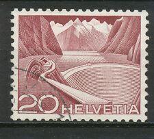 Zwitserland  533 III R I met nummer op de achterzijde; echt gelopen (2)