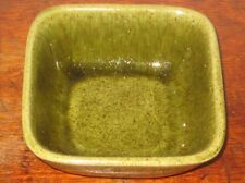 OLIVE GREEN SWEDISH SCANDINAVIAN POTTERY H'OEUVES DISH / BOWL