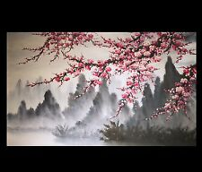 Modern Wall Art Paintings Art Prints On Canvas Japanese Cherry Blossom Painting