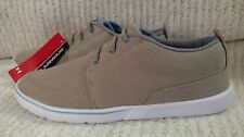 "NEW MENS TAN CANVAS SLIP ON UNDER ARMOUR SNEAKERS ""STREET ENCOUNTER"" SIZE 7 SHOE"