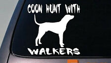 """COON HUNT WITH WALKERS COONHOUNDS 6"""" STICKER COON HUNTING COON NITE Spotlight"""