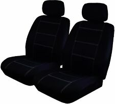 Wet N Wild Neoprene Airbag Safe Front Pair Black Car Seat Covers - White Stitch