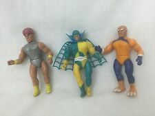 3 1984 Remco Mighty Crusaders action Figures Toys