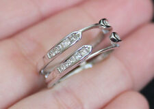 NewZales14K Double Row 1/2ct Princess Diamond Solitaire Enhancer Ring Guard Wrap