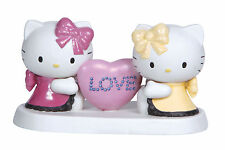 Precious Moments Sanrio Hello Kitty & Mimmy Porcelaine Figurine Heart w/LOVE New