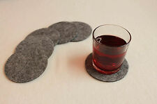 Grey Felt Coasters Simple Shape Circle Felt Set of 8 Handmade Ireland Eire