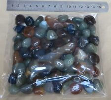 100g small mix color Agate Tumbled Gemstones NO HOLE ( Brazil )
