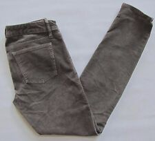 Gap 1969 Always Skinny Gray Corduroy Pants 28 6 R Shark Fin Stretch Cords 30""