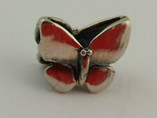Authentic Trollbeads Sterling Silver Fantasy Butterfly Bead Charm 12305, New