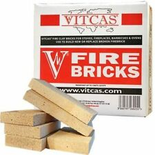 VITCAS Fire Bricks - Replacement for Stoves & Fireplaces - Pack of 6 Bricks
