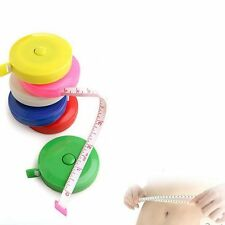 """1PC 60"""" 150CM Flat Tape Body Measure Dieting Sewing Tailor Ruler + Case Durable"""