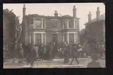 Southend - House in London Road, Damaged By Air Raid  real photographic postcard
