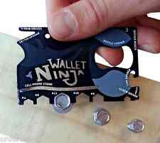 18in1 Handy Multi Purpose Wallet Credit Card Size Pocket Tool Screw Driver