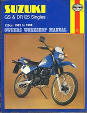 SUZUKI DR125 S,GS125,DR125 RAIDER,GS125 ES HAYNES WORKSHOP MANUAL 1982-1989