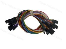 10X 30cm 3P Female (F-F) Arduino Jumper Cable Cables Wire Wires Sensor Shields