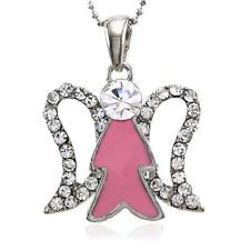 Christmas Gift Present Pink Angel Wing Necklace Pendant Charm for Girls Women s1