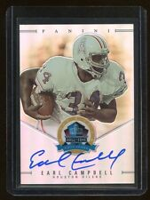 EARL CAMPBELL SIGNED 2013 PANINI SPECTRA HALL OF FAME CARD#/50~FOOTBALL HOF AUTO