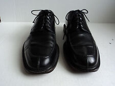 COLE HAAN  10  D  BLACK  SPLIT TOE LACE TIE UP SHOE MADE IN ITALY