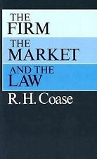 The Firm, the Market, and the Law by R. H. Coase (1990, Paperback)