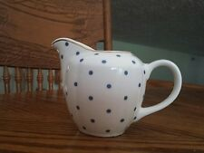 GRACE'S TEAWARE WHITE WITH BLUE POLKA DOTS CREAMER!