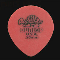 Dunlop Tortex Teardrop Guitar Picks Plectrums 0.50mm Red - 6 10 12 20 24 or 36
