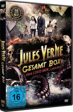 16 Movies JULES VERNE COMPLETE BOX SET Monster island FANTASY Travel Moon DVD