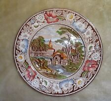 "Vintage ""Rural England"" W. R. Midwinter Ltd. 10"" Multi-Color Dinner Plate"
