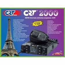 CRT-2000 CB 27 MHZ MULTI STANDARD EXPORT 400 CANALI DISPLAY COLORI 12/24 VOLTS