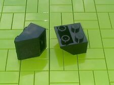 NEW LEGO BRICKS - 10 x BLACK 2x2 INVERTED SLOPE BRICK 45 3660 -
