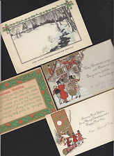 4-Christmas-Greeting Card-Postcard-Assorted-Antique Lot