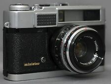 YASHICA Minister 35mm Vintage Film Camera YASHINON 2.8 45mm Lens CLEAN Working