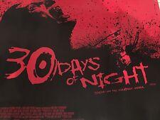 30 Days Of Night Original Uk Quad Poster