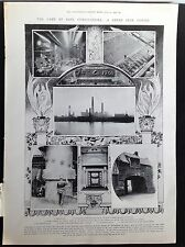 Antigua Impresión-Lámpara De East Stirlingshire Hierro centro de Escocia - 1905 - 80