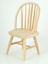 1:12 Natural Finish Wooden Spindle Back Chair Dolls House Miniature Accessory