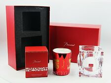 SECRETS OF BACCARAT GEODE CANDLE JAR AND CANDLE RED FLORAL SCENT THOMAS BASTIDE
