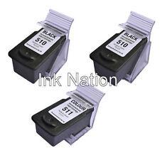 2x PG510 Black & 1x CL511 Colour Ink Cartridges For Canon PIXMA MP495 Printer