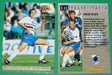 FOOTBALL CARD PANINI 1995 DAVID PLATT SAMPDORIA CALCIO ITALIA 1994-95