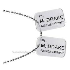 ALIENS Licensed Private Mark DRAKE Colonial Marines DOG TAGS Prop REPLICA Set