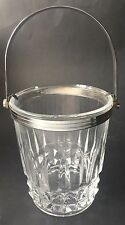Vintage Cristal d'Arques French Lead Crystal Ice Bucket Tuileries 1960s-1970s