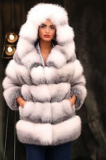PELZ PELZMANTEL JACKE FASHION FUCHS MANTEL FUR COAT FOX VOLPE RENARD лиса шуба