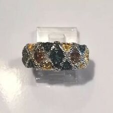 SALE! Multi Color Diamond Ring, 14K, YG & RG, White Gold SS .925 SZ 7