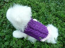 XXXS handmade knit dog sweater