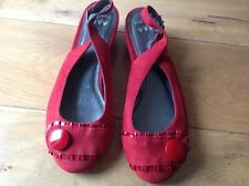 Ladies Per Una Red Suede Shoes.size  3 New.rrp £39.50