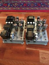 Pair of Conn Tube High Fidelity Stereo 6L6 KT66 Amplifiers 1950s NO TUBES