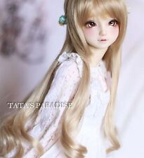 1 4 7-8 Dal BJD SD MSD Wig MDD DOD LUTS DOC Dollfie Doll Toy Long Brown wigs