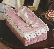 Crochet Pattern ~ LACE EDGED TISSUE COVER ~ Instructions
