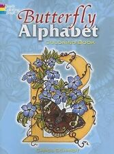 Dover BUTTERFLY ALPHABET Adult Coloring Book Carol Schmidt NEW 2007