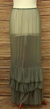 LAGENLOOK MAXI PETTICOAT UNDERSKIRT/DRESS*GREEN* ITALY WAIST UP TO 54""
