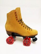 SURE GRIP VINTAGE TAN SUEDE INDOOR or OUTDOOR ROLLER SKATES